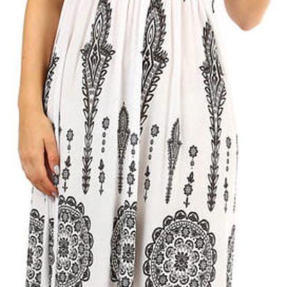 Dámské plážové šaty / sukně se zavazováním za krk II.jakost bílá