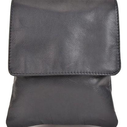 Černá kožená kabelka Sofia Cardoni Messa