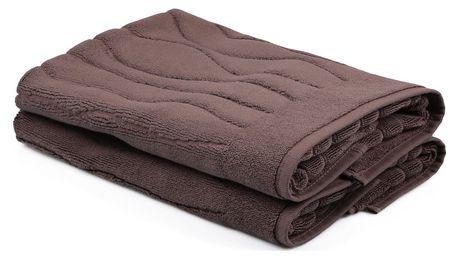 Sada 2 hnědých ručníků Beverly Hills Polo Club Gartex, 50x75cm