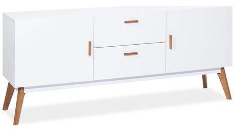 Bíla komoda Signal Milan, šířka 160cm