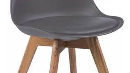 Šedá židle loomi.design