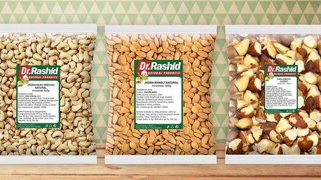Mandle, kešu, para i další ořechy na mlsání