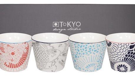 Sada 4 porcelánových hrnků Tokyo Design Studio Shiki, 180ml