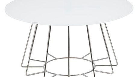 Bílý konferenční stolek Actona Casia, výška 40 cm