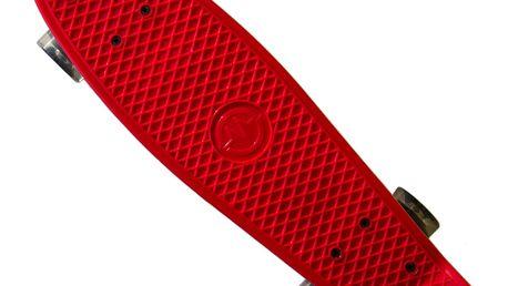 """Plastik Board MASTER 22"""" se svítícími kolečky - červený"""