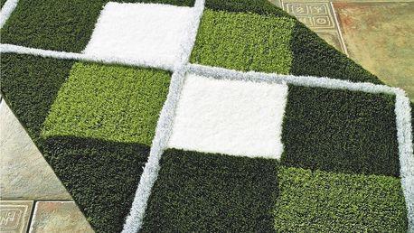 Zelená předložka do koupelny Confetti Bathmats Parsa, 70x120cm