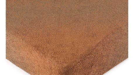 4Home froté prostěradlo hnědá, 160 x 200 cm