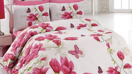 Tip Trade Bavlněné povlečení Alize Pink, 140 x 200 cm, 70 x 90 cm
