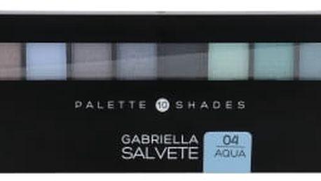 Gabriella Salvete Palette 10 Shades 12 g oční stín pro ženy 04 Aqua