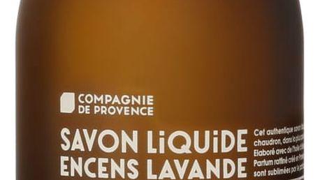 COMPAGNIE DE PROVENCE Tekuté mýdlo Oliva a levandule 500ml, hnědá barva, sklo
