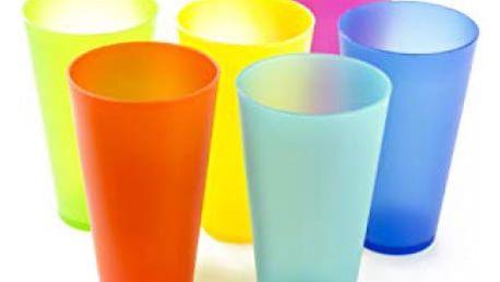 Plastový barevný pohár 0,3l 6 ks
