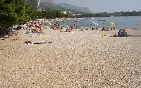 Chorvatsko - Makarská riviéra na 8 až 10 dní, polopenze, večeře nebo bez stravy s dopravou autobusem nebo vlastní 100 m od pláže