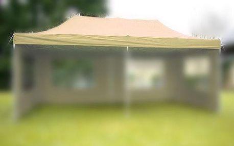 Garthen 31248 Náhradní střecha na zahradní skládací stan 3 x 6 m champagne