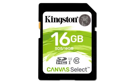 Paměťová karta Kingston Canvas Select SDHC 16GB UHS-I U1 (80R/10W) (SDS/16GB)