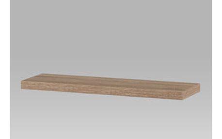 Nástěnná polička 80cm, barva sonoma dub