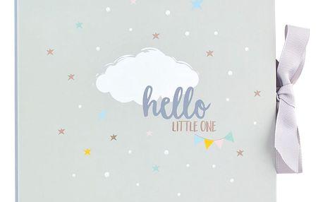 Světle šedý deník miminka Busy B