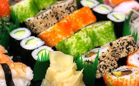 Až 46 ks čerstvého sushi, i vegetariánská verze