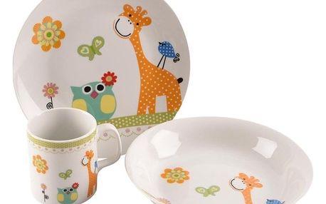 Orion žirafa 3 ks dětská jídelní sada