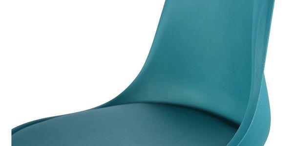 Jídelní židle CROSS tyrkysová2