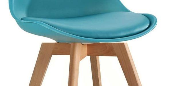Jídelní židle CROSS tyrkysová