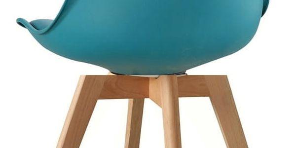 Jídelní židle CROSS tyrkysová4