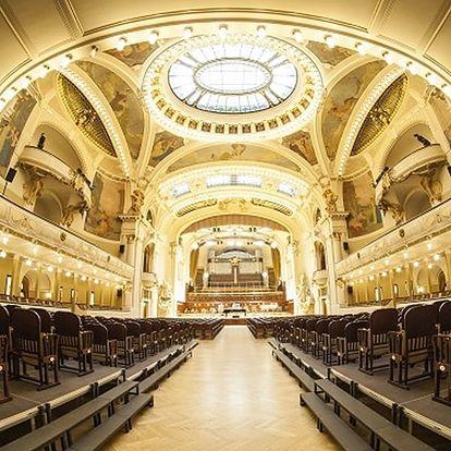 Vstupenka na baletní galapředstavení se zpěváky a orchestrem v Obecním domě.