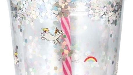 Plastová lahev s brčkem npw™ Unicorn, 450ml