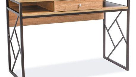 Psací stůl s konstrukcí z černě lakované oceli Signal Tablo