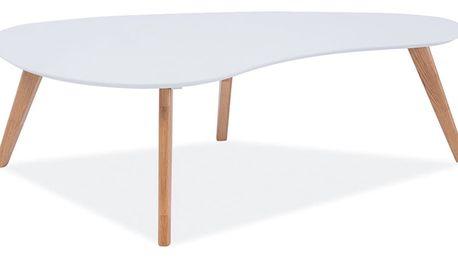 Bílý konferenční stolek Signal Aurea, délka120cm