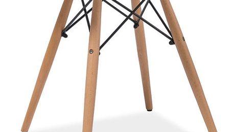 Bílý kulatý odkládací stolek s nohama z kaučukového dřeva Signal Soho, ⌀60cm