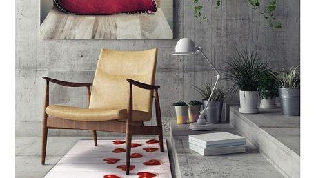 Vysoce odolný běhoun Webtappeti Hearts, 58x140cm
