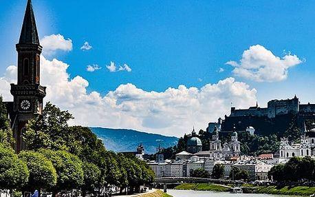 Salzburg 3 nebo 4 dny v Mozartově městě pro 2 osoby a dvě děti se snídaněmi.