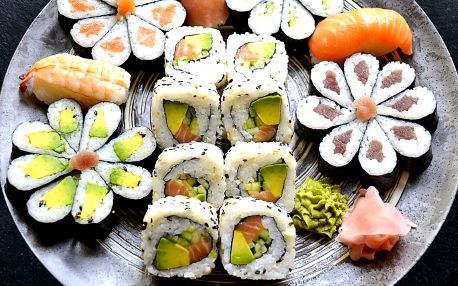 Květinové sushi sety o obsahu 24, 32 nebo 43 ks
