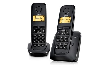 Domácí telefon Siemens Gigaset A120 duo černý (L36852-H2401-R601)