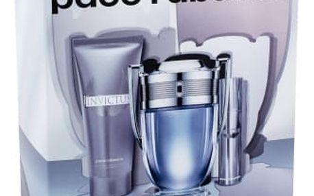Paco Rabanne Invictus dárková kazeta pro muže toaletní voda 100 ml + toaletní voda 10 ml + sprchový gel 75 ml