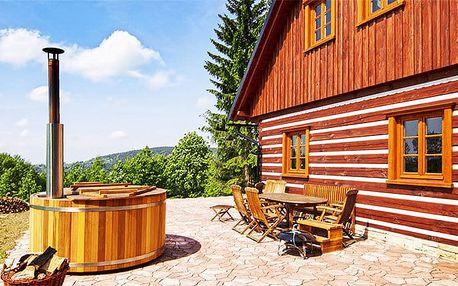 4denní pobyt pro až 16 osob ve velmi komfortní Roubence pod lesem v Orlických horách
