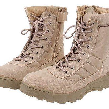 Boty vysoké kožené vel. 44