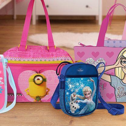Dětské tašky a kabelky s oblíbenými postavičkami