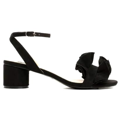 Dámské černé sandály na podpatku Sara 1486