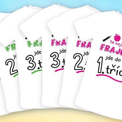 Dětská trička pro prvňáčky, druháky i třeťáky