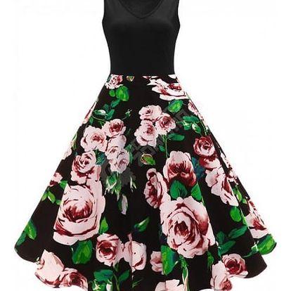 Dámské šaty ve stylu vintage - 3-M - dodání do 2 dnů