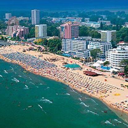 Bulharsko - Slunečné Pobřeží na 8 dní, all inclusive nebo polopenze s dopravou letecky z Prahy 250 m od pláže