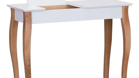 Bílý toaletní stolek se zrcadlem Ragaba Dressing Table,délka85cm