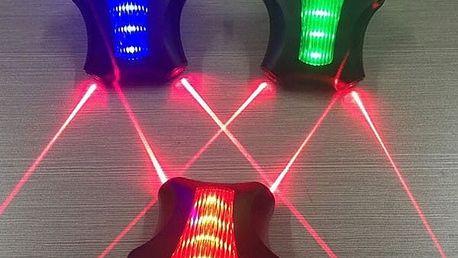 Zadní světlo na kolo se 5 LED světly
