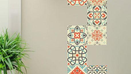 Sada 30 dekorativních samolepek na stěnu Ambiance Vérone, 10 x 10 cm