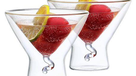 4home Termo sklenice Martini Elegante Hot&Cool, 200 ml, 2 ks