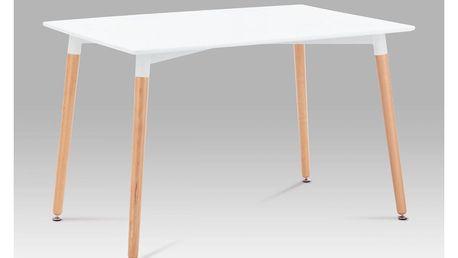 Jídelní stůl 120x80 cm, lak bílá / natural DT-705 WT1 Autronic