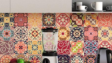 Sada 30 dekorativních samolepek na stěnu Ambiance La Valette, 10 x 10 cm