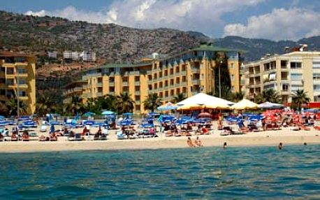 Turecko - Alanya na 9 dní, all inclusive s dopravou letecky z Prahy 50 m od pláže