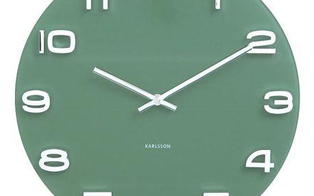 Zelené hodiny Karlsson Vintage, Ø 35 cm